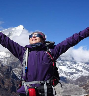 Lobuche Peak with Everest Base Camp