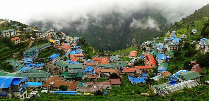 Monsoon Season Photo Of Namche Bazzar