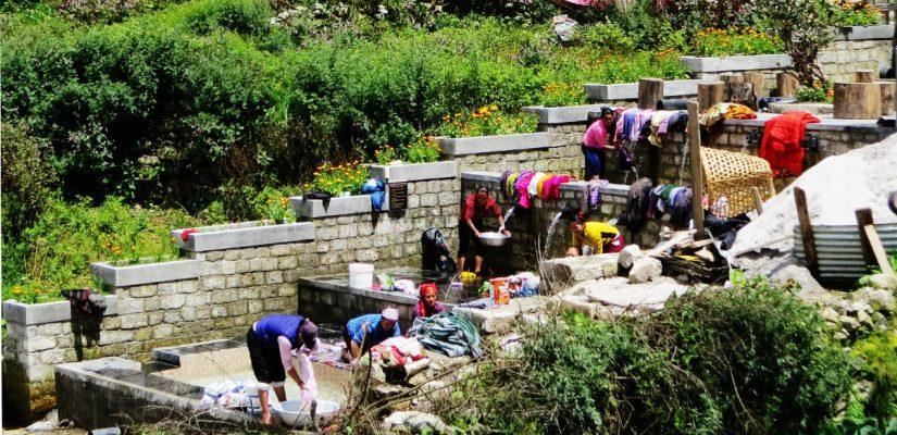 Washing-Day-at-Namche-Bazzar