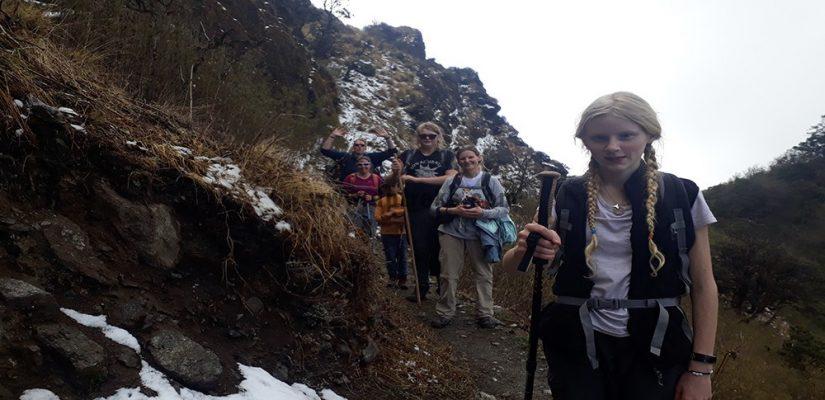 Family treks Khayer