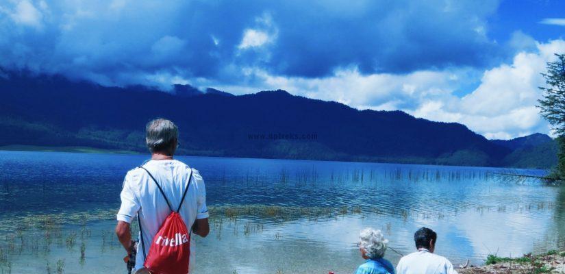 Tourist-Enjoying-Rara-Lake